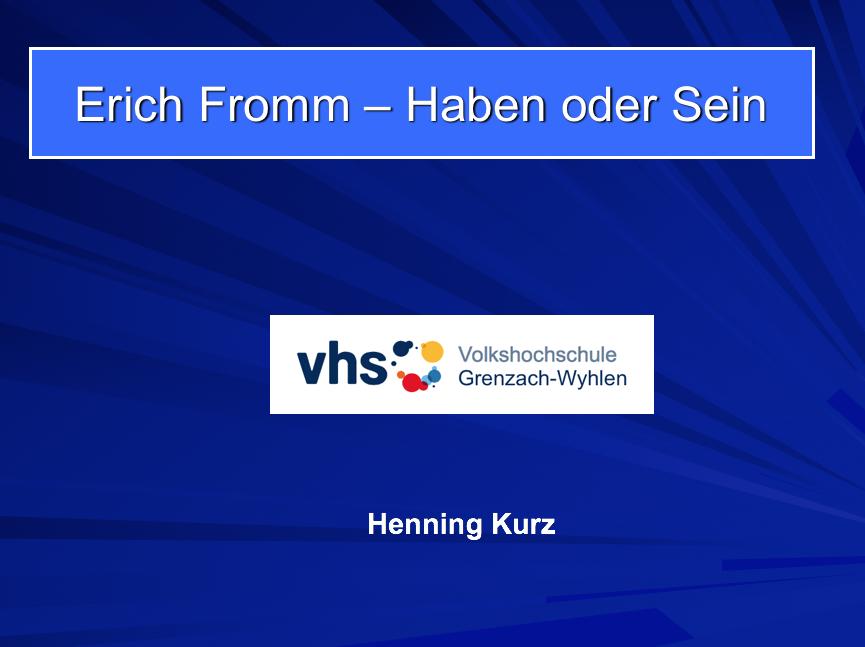 Erich Fromm - Haben oder Sein